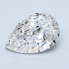 Piedra recomendada 3: Diamante en forma de pera de2.01 quilates