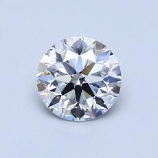 0,80-Carat Round Diamond Ideal D VVS2
