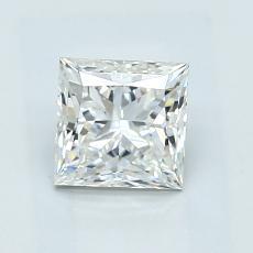 1,08-Carat Princess Diamond Very Good H VS1