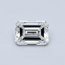 Pierre recommandée n°2: Diamant taille émeraude 0,54 carat