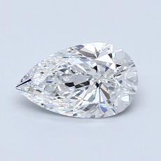 0.80-Carat Pear Diamond Very Good D VVS1