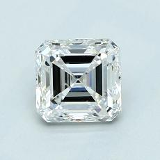 1.01-Carat Asscher Diamond Very Good F VS1