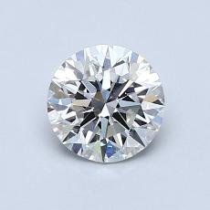 0.81-Carat Round Diamond Ideal G VVS2
