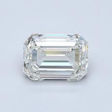 0.90-Carat Emerald Diamond Very Good J VS1
