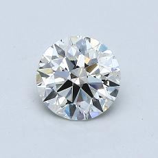 0,60-Carat Round Diamond Ideal K VS2