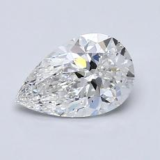 1.00-Carat Pear Diamond Very Good F VS1