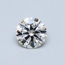 0.53 Carat 圆形 Diamond 理想 I SI1