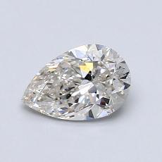 推薦鑽石 #3: 0.80 克拉梨形鑽石