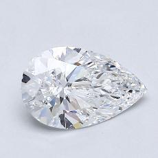 0.80-Carat Pear Diamond Very Good D IF