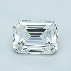 1.01-Carat Emerald Diamond Very Good E VVS1