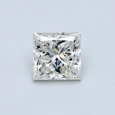 0,58-Carat Princess Diamond Very Good J SI1