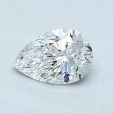0,72 Carat Poire Diamond Très bonne D VVS1