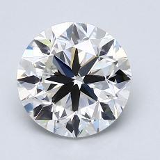 目标宝石:2.01克拉圆形切割钻石