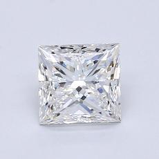 1.01 Carat Princesa Diamond Muy buena F VVS1