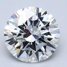 2,51-Carat Round Diamond Ideal G VVS1