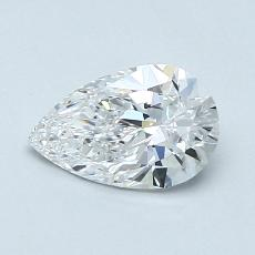 0.70-Carat Pear Diamond Very Good D IF