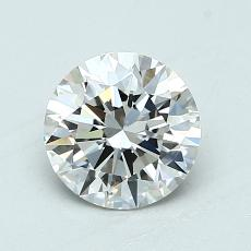 1.06-Carat Round Diamond Ideal F VVS1