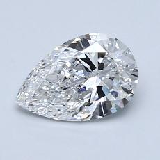 1,07-Carat Pear Diamond Very Good D SI1