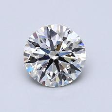 0.80-Carat Round Diamond Ideal I VS2