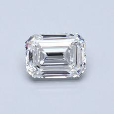 推薦鑽石 #4: 0.70  克拉綠寶石形切割鑽石