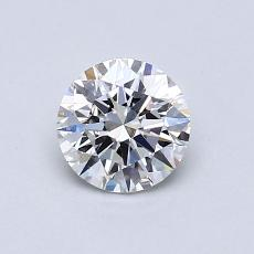 0,70 Carat Rond Diamond Idéale E VS2