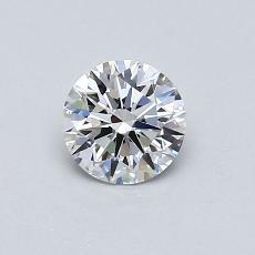 0.53 Carat ラウンド Diamond アイデアル F IF