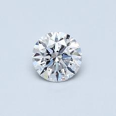 0,40 Carat Rond Diamond Idéale D VVS1