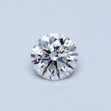0,40 Carat Rond Diamond Idéale F VS1