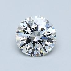 0.81-Carat Round Diamond Ideal D VVS1