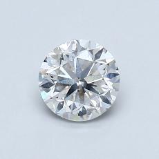 0.70-Carat Round Diamond Good F SI2