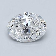 0.90-Carat Oval Diamond Very Good E VS1