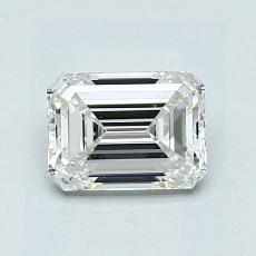 1.01-Carat Emerald Diamond Very Good H VVS1