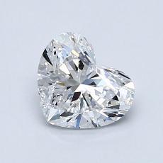 Piedra recomendada 1: Diamante con forma de corazón de 0.90 quilates