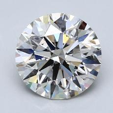 3.00-Carat Round Diamond Ideal J SI2