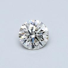 0.42-Carat Round Diamond Ideal K VS2