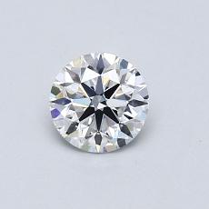 0.53-Carat Round Diamond Ideal D VVS1