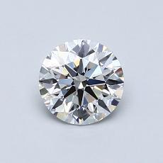 0.72-Carat Round Diamond Ideal F VVS2