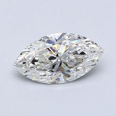Piedra recomendada 2: con diamante Talla marquesa de 0.70 quilates