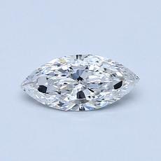 0,37-Carat Marquise Diamond Very Good E VS1