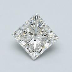 0.91-Carat Princess Diamond Very Good H VVS2