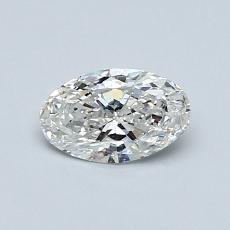 0.50-Carat Oval Diamond Very Good G SI2