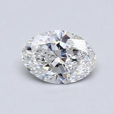 0,53 Carat Ovale Diamond Très bonne D VVS2