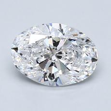 1.20 Carat 橢圓形 Diamond 非常好 D VS2