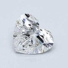 1.00-Carat Heart Diamond Very Good D VVS1