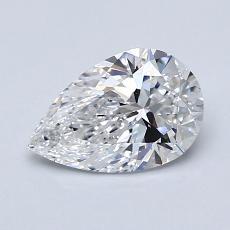 1.02-Carat Pear Diamond Very Good D SI1