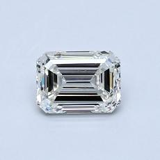 0.62-Carat Emerald Diamond Very Good I VS1