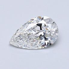 Pierre recommandée n°2: Diamant taille poire 0,71carats