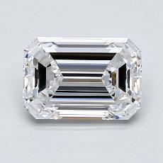 1.25 Carat Esmeralda Diamond Muy buena D IF