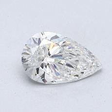 0.61-Carat Pear Diamond Very Good E VS2