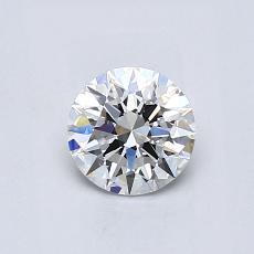 0.60 Carat 圓形 Diamond 理想 D VVS2